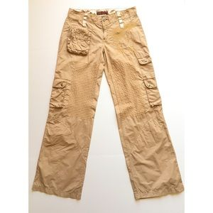 Miss Me Cargo Pants Medium Embroidered